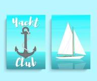 Yacht club-04 stock illustrationer
