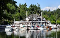 Yacht Club. Building Royalty Free Stock Photo