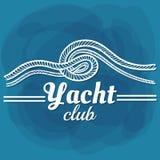Yacht club branco da rotulação Fotos de Stock Royalty Free