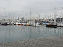 Yacht club di Barcellona Fotografia Stock