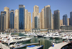 Yacht club in Dubai Royalty Free Stock Photography