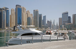 Yacht club of Dubai Marina district Royalty Free Stock Photos