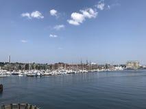 Yacht club em Boston foto de stock royalty free