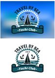 Yacht Club emblem or badge Royalty Free Stock Image