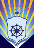 Yacht club emblem Royalty Free Stock Photography