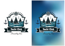Yacht club emblems Royalty Free Stock Photography