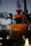 Yacht Club Fountain. Decorative fountain at the Jupiter Florida Yacht Club royalty free stock images