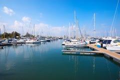 Yacht club in the Larnaca Stock Photos