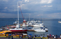 Yacht club located at passenger seaport of Odessa,Ukraine Royalty Free Stock Photo