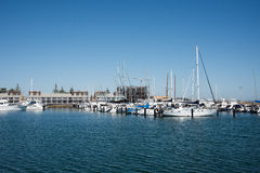 Yacht Club and Marina: Fremantle, Western Australia. FREMANTLE,WA,AUSTRALIA-NOVEMBER 13,2016: Royal Perth Yacht Club and marina with luxury yachts, and sailboats royalty free stock image
