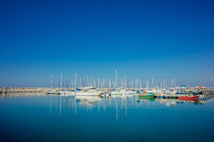 Yacht Club. Mediterranean Sea Yacht Club in Israel stock photo
