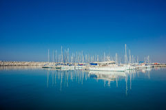 Yacht Club. Mediterranean Sea Yacht Club in Israel Royalty Free Stock Photos