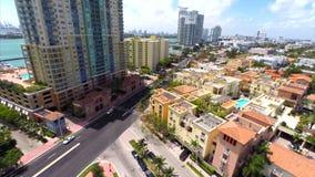 Yacht Club Miami Beach aerial video stock video footage