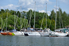 Yacht club Neptune in Dolgoprudny, Moscow region, Russia Royalty Free Stock Photo