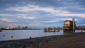 Yacht club in north Greenwich, London. Royalty Free Stock Images