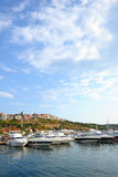 Yacht club in old town Sozopol Stock Photography