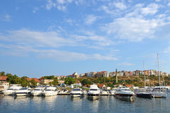 Yacht club in old town Sozopol Stock Photo