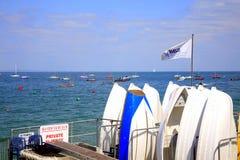 Yacht club, opinião do mar, ilha do Wight. Fotografia de Stock Royalty Free