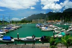 Yacht club & porto reais de Langkawi Fotos de Stock Royalty Free