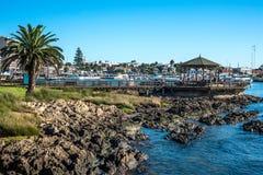 Yacht-club of the rich people in Punta del Este harbor, Uruguay. Maldonado, April, 14, 2016 - Yachts of the rich people in Punta del Este harbor, Uruguay Stock Image