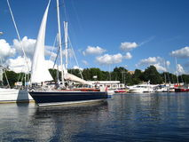 Yacht club a Riga Immagini Stock