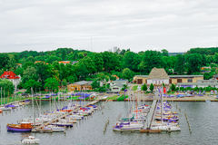 Yacht Club in Rostock Germany Royalty Free Stock Images