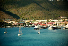 Yacht club in Saint Thomas Stock Photo