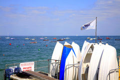 Yacht club, Sea View, Isle of Wight. Royalty Free Stock Photography