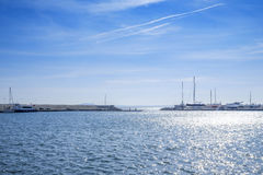Yacht club seascape 1 Stock Photography