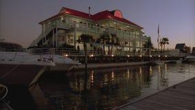 Yacht Club Sunset stock footage