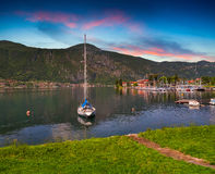 Yacht Club in the town of Lierna in Lake Lecco Stock Images
