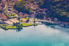 Yacht Club in the town of Limonta in Lake Lecco. Royalty Free Stock Images