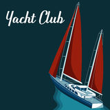 Yacht club. Vector illustration Royalty Free Stock Images