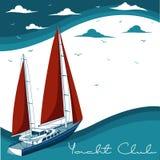 Yacht club. Vector illustration Royalty Free Stock Image