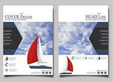 Yacht club Vetor do molde do projeto do inseto ilustração stock