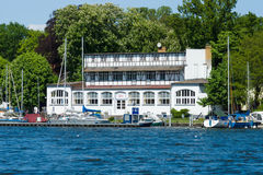 Yacht Club Wendenschloss on the river Dahme. Berlin Stock Images