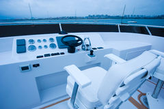 Yacht cockpit Royalty Free Stock Photo