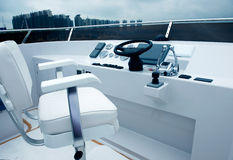 Yacht cockpit Stock Images