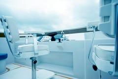 Yacht cockpit Stock Photography