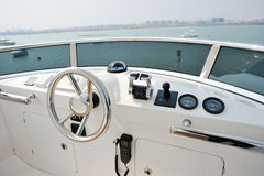 Yacht cockpit Royalty Free Stock Photos