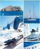 Yacht collage Stock Photography