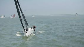 Yacht Competing in a Fast 40 Sailing Race
