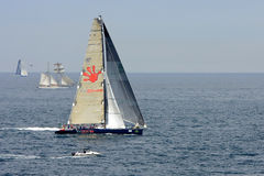 Yacht competing in the Rolex Sydney to Hobart rac. Yacht, Yuu Zoo, competing in the Rolex Sydney to Hobart yacht race on Boxing Day Stock Photography