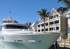 Yacht And Condos Stock Photos
