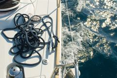 Yacht cordas Imagens de Stock Royalty Free