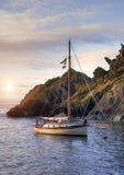 Yacht, Cornwall, England Stock Photo