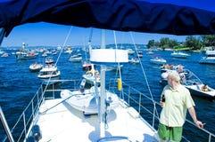 Yacht Crew on Deck Stock Photos