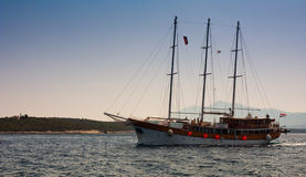 Yacht croate photo stock