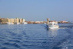 Yacht cruise on Red Sea. In Egypt Stock Photography