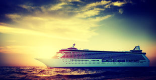 Yacht Cruise Ship Sea Ocean Tropical Scenic Concept Stock Photography